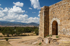 Ruins of the Cuilapan de Guerrero monastery, Oaxaca. Mexico Royalty Free Stock Photo