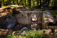 Ruins of Czech Sostyn castle. Beautiful old ruins of Sostyn castle, near Koprivnice. Beautiful Czech landscape Stock Image