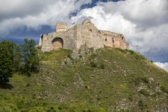 The ruins of Czorsztyn Castle in Poland Royalty Free Stock Image