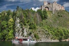 The ruins of Czorsztyn Castle in Poland Stock Photo
