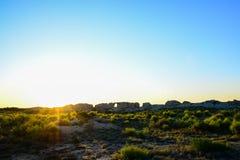 The ruins at dawn Royalty Free Stock Photos