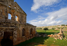 Ruins of the dead city of Serjilla Stock Photography