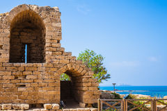 Ruins of defensive walls Royalty Free Stock Images
