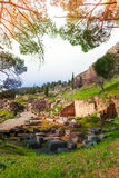 The ruins of Delfi, Greece Royalty Free Stock Image