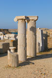 Ruins of Delos, Greece. CLassic greek marble columns, ruins of Delos, Greece Royalty Free Stock Photo