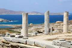 Ruins of Delos Stock Photography