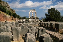 Ruins of Delphi Royalty Free Stock Photos
