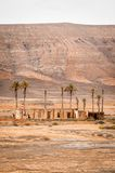 Ruins in the desert. House in ruins. Desertic landscape Stock Photography