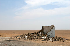 Ruins in the Desert Stock Photo