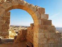 Ruins in the desert. stock photo