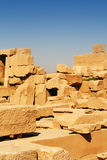 Ruins in desert in egypt Royalty Free Stock Photos