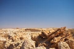 Ruins in Desert Royalty Free Stock Photography