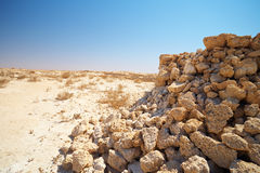 Ruins in Desert Royalty Free Stock Photos