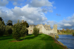Ruins of Desmond Castle Bathed in Sunshine in Ireland Royalty Free Stock Image