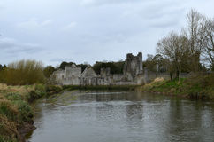 Ruins of Desmond Castle With Maigue River in the Foreground Stock Photos