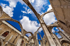 Ruins of the destroyed Carmo Church - Lisbon Portugal Stock Photo