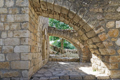 Ruins and details Crusader fortress Royalty Free Stock Photography