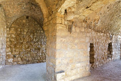Ruins and details Crusader fortress Stock Photo