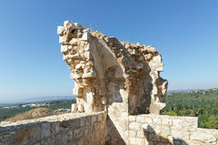 Ruins and details Crusader fortress Stock Image