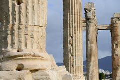 Ruins details of Zeus temple in Athens Stock Photography