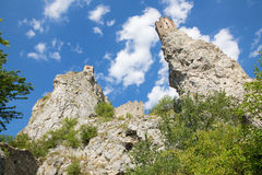 The ruins of Devin castle Stock Image