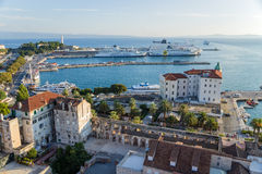 Ruins of Diocletian's palace and port4 Royalty Free Stock Image