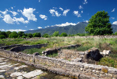 Ruins in Dion, Greece. Royalty Free Stock Image
