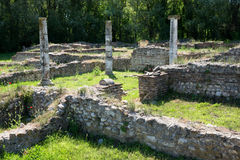 Ruins in Dion, Greece. Stock Photos