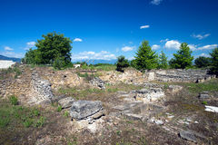 Ruins in Dion, Greece. Royalty Free Stock Photo