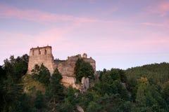 Ruins of Divci Kamen gothic castle Stock Image