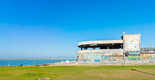 Ruins of the Dolphinarium. Abandoned ruins of the Dolphinarium discotheque in downtown Tel Aviv, Israel, located right by the Mediterranean sea. The place became stock image