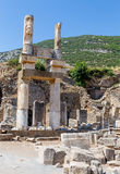 Ruins of the Domitian Square, Ephesus, Turkey Stock Images
