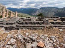 Temple of Apollo at Delphi Royalty Free Stock Photo