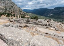 Temple of Apollo at Delphi Royalty Free Stock Photography
