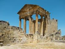 Ruins of Dougga stock photo