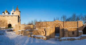 Ruins in Dovmont town Royalty Free Stock Images