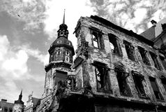 Ruins of Dresden. Ruins of Dresden - german city after bombing during World War II Royalty Free Stock Photos