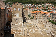 Ruins in Dubrovnik. After the war of the '90s Royalty Free Stock Photos