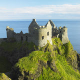 Ruins of Dunluce Castle. In County Antrim, Northern Ireland Stock Photography
