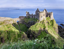 Ruins of Dunluce Castle in Northern Ireland Royalty Free Stock Images