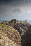 The ruins of Dunnottar Castle, Scotland stock images