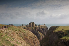 The ruins of Dunnottar Castle, Scotland Stock Photos