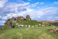 The ruins of Duntulm Castle, Isle of Skye - Scotland.  royalty free stock photography