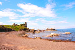 Ruins of Dunure Castle Royalty Free Stock Photo