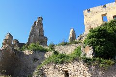 Ruins of Durnstein Castle Stock Images