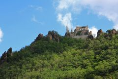 Ruins of Durnstein Castle Royalty Free Stock Photography