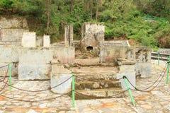 Ruins of Dutch houses on Kelimutu royalty free stock image
