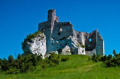 Ruins of Eagle Nest castle in Mirow, Poland Royalty Free Stock Images