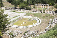 Ruins of earlier Aphrodite temple Royalty Free Stock Photos