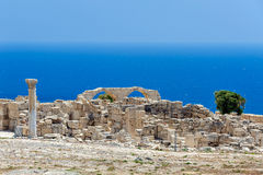 Ruins of an early Christian basilica on Cyprus Stock Photo